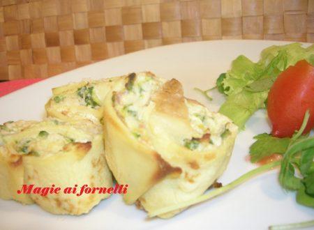 Girelle di crepes con ricotta e zucchine
