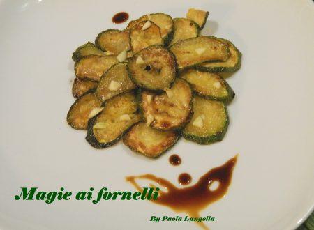 Zucchine alla scapece con aceto balsamico