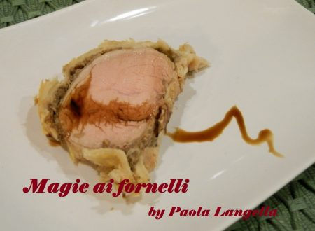 Filetto in crosta con duxelles di funghi e  aceto balsamico