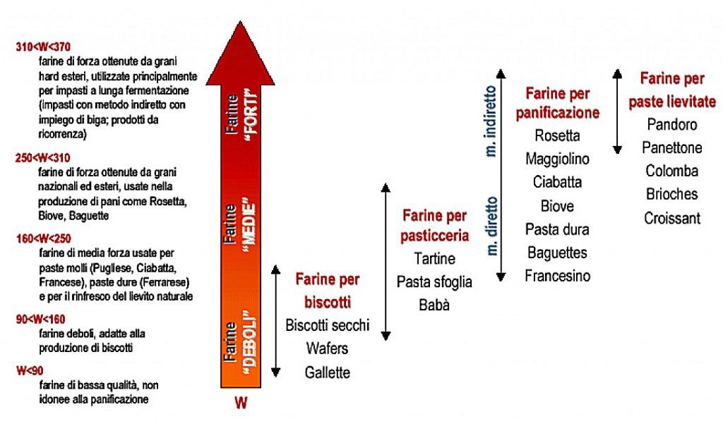 schema forza delle farine