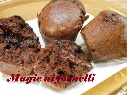 Muffins al cioccolato con cuore di nutella