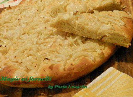 Focaccia rustica alla  farina di ceci e cipolle