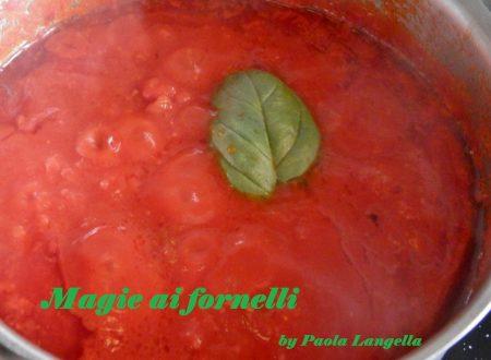 Sugo al basilico e parmigiano