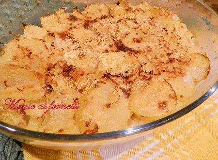 Tortino di patate in fette