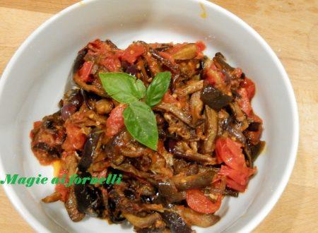 Filetti di melanzane pomodoro e olive
