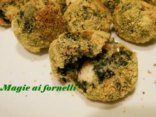 Polpettine di spinaci e mozzarella