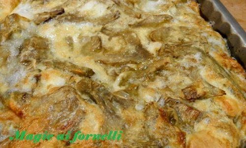 Frittata di carciofi e provola al forno