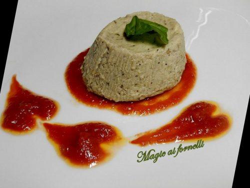 Flan di melanzane e provola al profumo di basilico