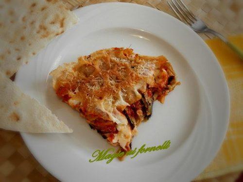 Lasagne di pane Carasau con melanzane