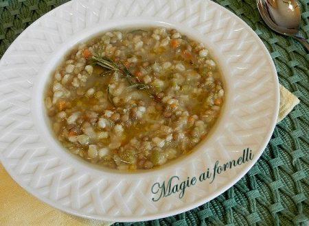 Orzo e lenticchie al rosmarino