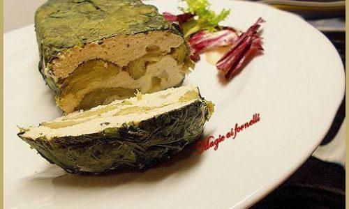 Terrina al pollo e carciofi con spinaci