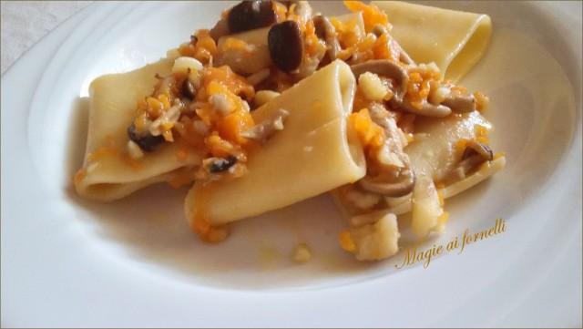 paccheri zucca castagne funghi