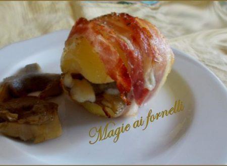 Bauletto di patata ai carciofi e crispy di bacon