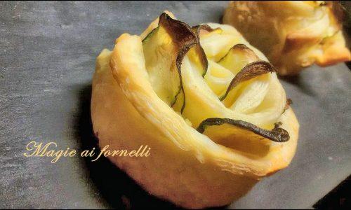 Rose di pasta sfoglia zucchine e tonno